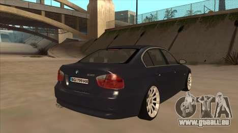 BMW 330 e90 für GTA San Andreas rechten Ansicht