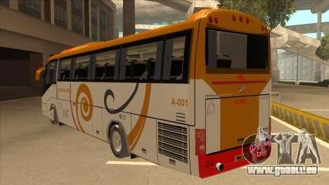 Higer KLQ6129QE - Yellow Bus Line A-001 für GTA San Andreas Rückansicht