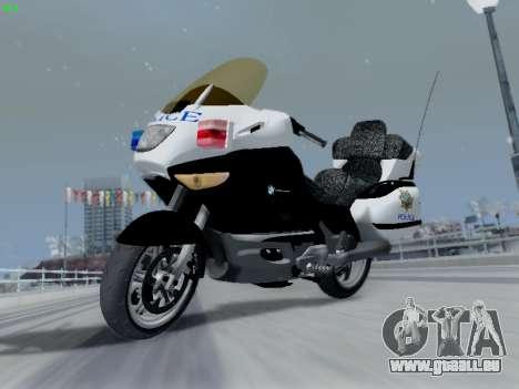 BMW K1200LT Police pour GTA San Andreas vue arrière