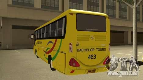 Kinglong XMQ6126Y - Bachelor Tours 463 pour GTA San Andreas vue arrière