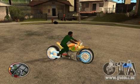 Tadpole Motorcycle pour GTA San Andreas vue arrière