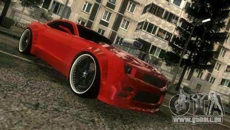 Chevrolet Camaro JR Tuning pour une vue GTA Vice City de la gauche