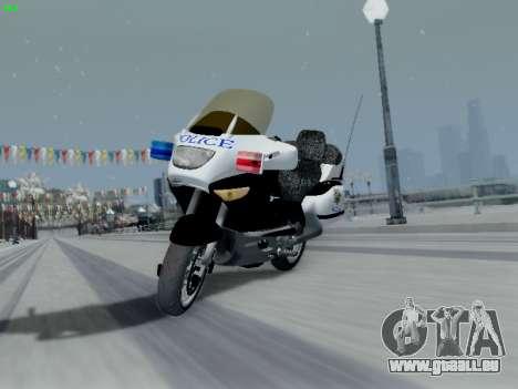 BMW K1200LT Police pour GTA San Andreas vue de côté