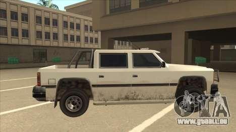 Declasse Rancher FXT pour GTA San Andreas sur la vue arrière gauche