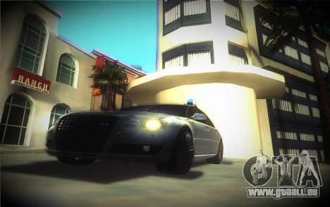 Audi A8L D3 pour GTA San Andreas vue arrière