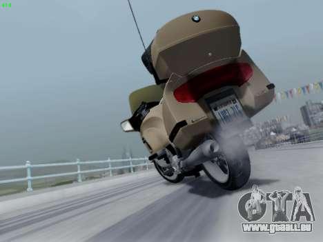 BMW K1200LT pour GTA San Andreas vue de dessus