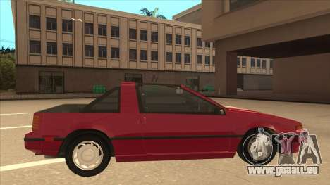 Nissan EXA L.A. Version pour GTA San Andreas sur la vue arrière gauche