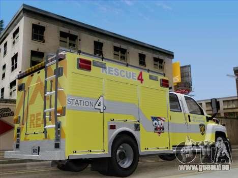 GMC C4500 Topkick BCFD Rescue 4 für GTA San Andreas Innenansicht