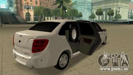 Lada Granta Limousine pour GTA San Andreas sur la vue arrière gauche