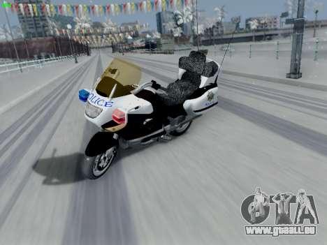 BMW K1200LT Police pour GTA San Andreas sur la vue arrière gauche