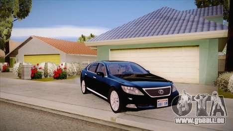 Lexus LS 600h L pour GTA San Andreas vue intérieure