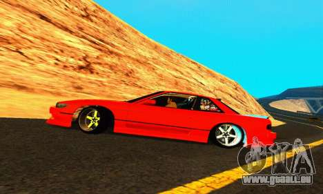 Nissan Silvia S13 HellaDrift pour GTA San Andreas vue de dessus