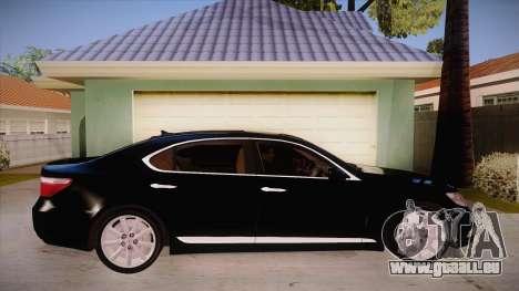Lexus LS 600h L für GTA San Andreas Rückansicht