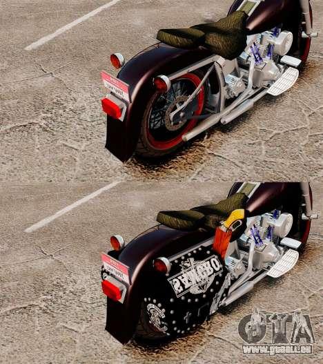 Harley-Davidson für GTA 4 Rückansicht