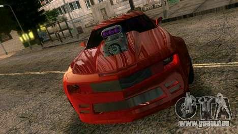 Chevrolet Camaro JR Tuning pour une vue GTA Vice City de l'intérieur