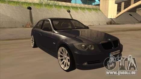 BMW 330 e90 pour GTA San Andreas laissé vue