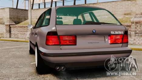 BMW 535 E34 Touring pour GTA 4 Vue arrière de la gauche