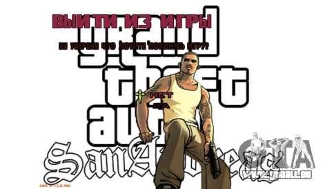 Neues Menü für GTA San Andreas sechsten Screenshot
