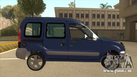 RENAULT KANGOO v2 pour GTA San Andreas sur la vue arrière gauche