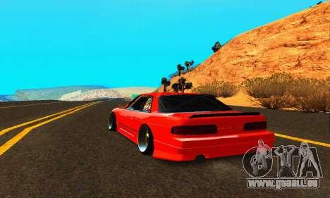 Nissan Silvia S13 HellaDrift für GTA San Andreas zurück linke Ansicht