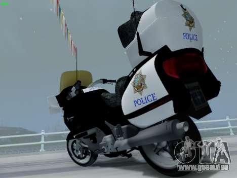 BMW K1200LT Police pour GTA San Andreas vue intérieure