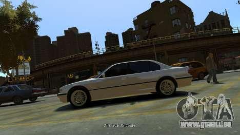 BMW 750iL pour GTA 4 est une gauche