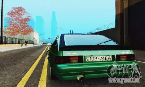 2141 AZLK noir Tuning pour GTA San Andreas vue intérieure