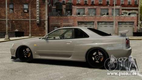 Nissan Skyline R34 für GTA 4 linke Ansicht
