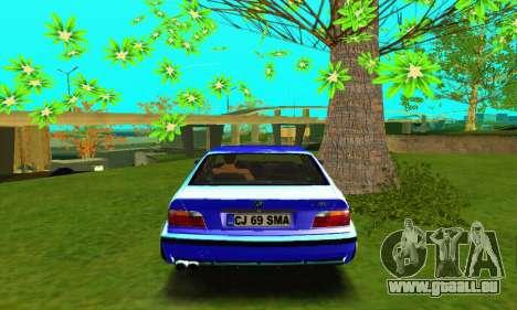 BMW E36 Low and Slow pour GTA San Andreas vue de droite