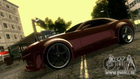 Chevrolet Camaro JR Tuning pour une vue GTA Vice City de la droite