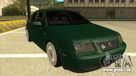 VW Bora pour GTA San Andreas laissé vue