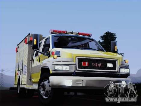 GMC C4500 Topkick BCFD Rescue 4 für GTA San Andreas Unteransicht