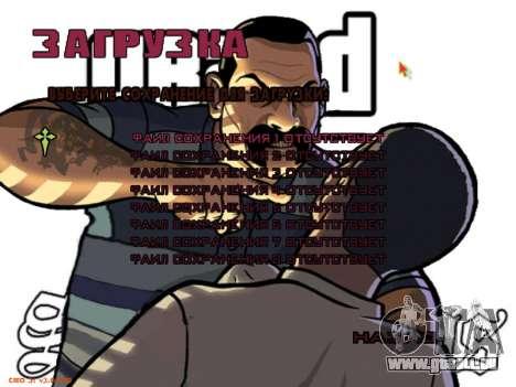 Neues Menü für GTA San Andreas siebten Screenshot