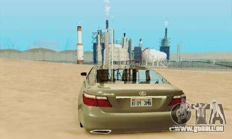 Lexus LS 600h L pour GTA San Andreas vue de dessus