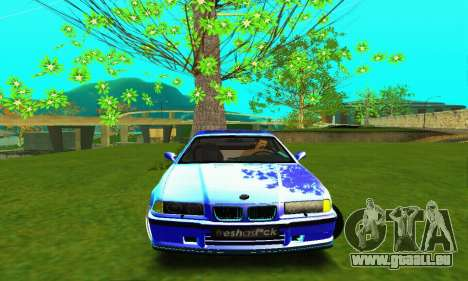 BMW E36 Low and Slow für GTA San Andreas Innenansicht