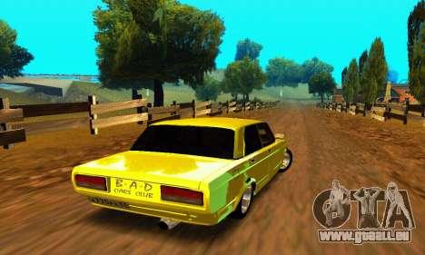 VAZ 2107 VIP für GTA San Andreas zurück linke Ansicht