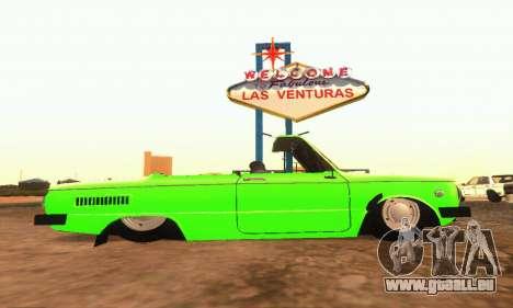ZAZ 968 Cabriolet Tuning pour GTA San Andreas sur la vue arrière gauche