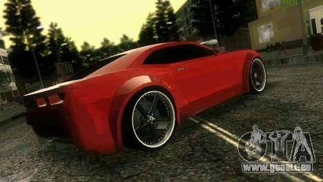 Chevrolet Camaro JR Tuning für GTA Vice City zurück linke Ansicht
