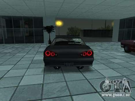 Elegy Skyline pour GTA San Andreas sur la vue arrière gauche
