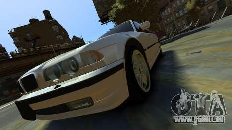 BMW 750iL pour GTA 4 Vue arrière