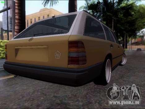 Mercedes-Benz E-Class W124 für GTA San Andreas zurück linke Ansicht