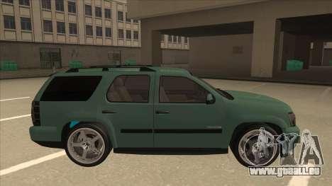 Chevrolet Tahoe Sound Car The Adiccion für GTA San Andreas zurück linke Ansicht