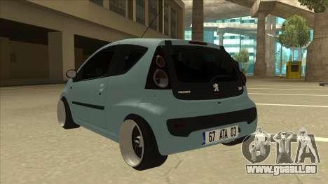 Peugeot 106 EuroLook pour GTA San Andreas vue arrière