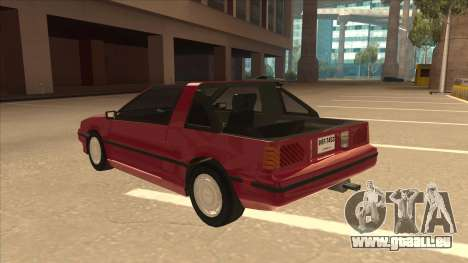 Nissan EXA L.A. Version pour GTA San Andreas vue arrière