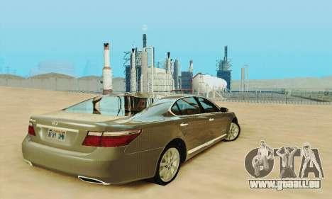 Lexus LS 600h L pour GTA San Andreas vue de côté