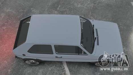 Volkswagen Golf MK1 GTI Update v1 pour GTA 4 est un droit