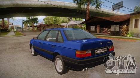 Volkswagen Passat B3 IVLM für GTA San Andreas zurück linke Ansicht