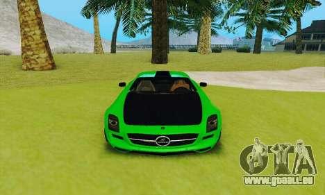 Mercedes SLS AMG 2010 Hamann v2.0 pour GTA San Andreas vue intérieure