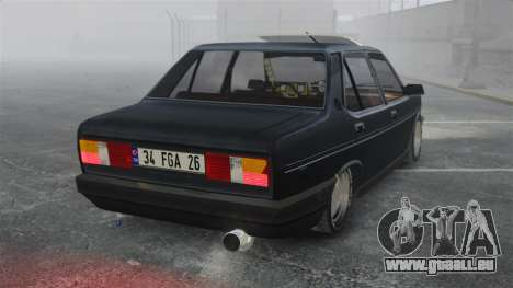 Fiat 131 pour GTA 4 Vue arrière de la gauche