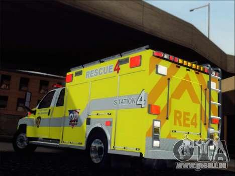 GMC C4500 Topkick BCFD Rescue 4 für GTA San Andreas zurück linke Ansicht